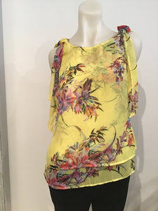 Monari Sleeveless Floral Top