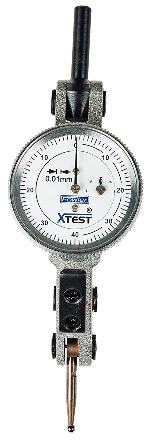 Fowler 52-562-007-0 Horizontal x-Test Indicator, 0.01 mm Interval, 1.5 mm Range, 25 mm Dial, Silver