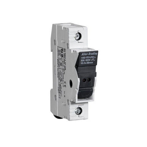 Allen-Bradley 1492-FB1C30-L Fuse Holder, Class CC, 30A, 1P, 110-600V, With Indicator, DIN Rail Mount