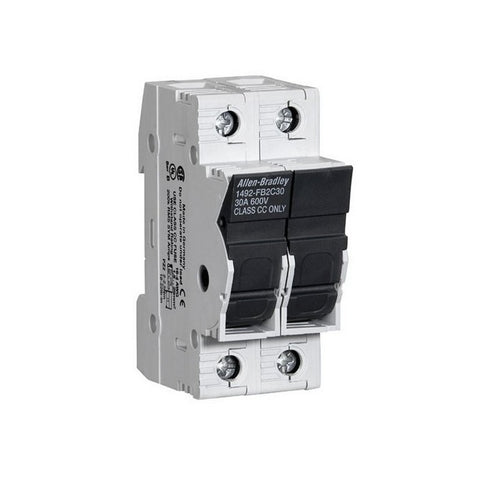Allen-Bradley 1492-FB2C30-L Fuse Holder Class CC, 30A, 1P, 110-600V, With Indicator, DIN Rail Mount