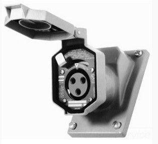 Appleton CPS152R Contender® Pin & Sleeve Receptacle Cover Assembly, 125-250V, 20 Amp