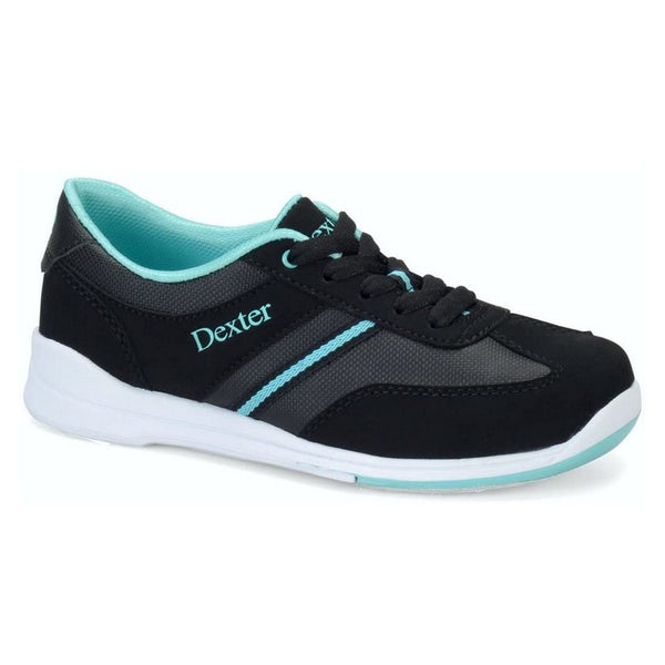 Dexter Dani B4274-1 Women's Bowling Shoes, Size 7.0, Black/Turquoise