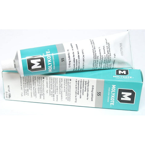 Dow Corning Molykote 55 O-Ring Silicone Grease Lubricant Lube, 150g/5.3oz Tube