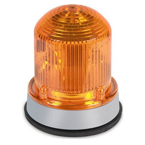 Edwards Signaling 125STRNA120A Flashing Xenon Strobe Beacon, Corrosion Resistant Enclosure, Normal Output 175K Peak Candela, 120V AC, Gray Base, Amber