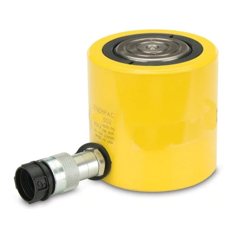 "Enerpac RC-502 Single-Acting Alloy Steel Hydraulic Cylinder, 50 Ton Capacity, Single Port, 2"" Stroke"