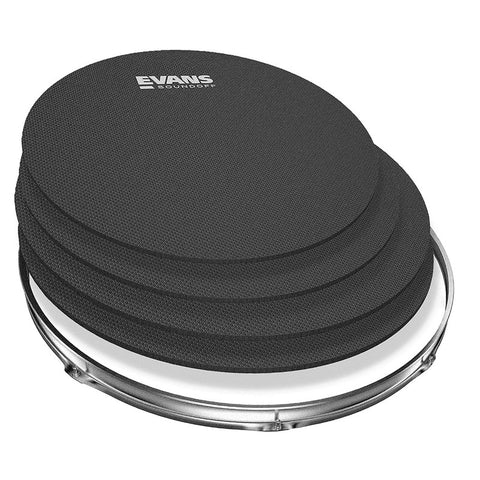"Evans Heads SoundOff Tom/Snare Drumhead Mute Pack, Fusion (12,14,14""), Model SO-0244"