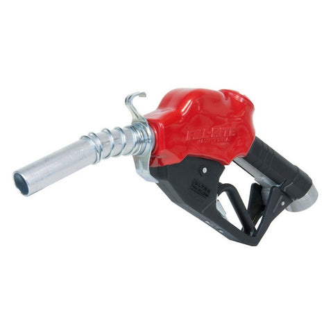 "Fill-Rite N100DAU13 1"" 5-40 GPM (19-150 LPM) Ultra High Flow Automatic Nozzle with Hook (Red)"