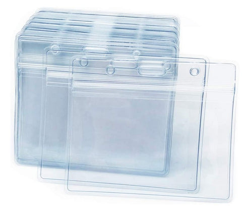 Clear Vinyl Badge Holder with Hi-Back Slot, Pack of 100 (pn 32237)