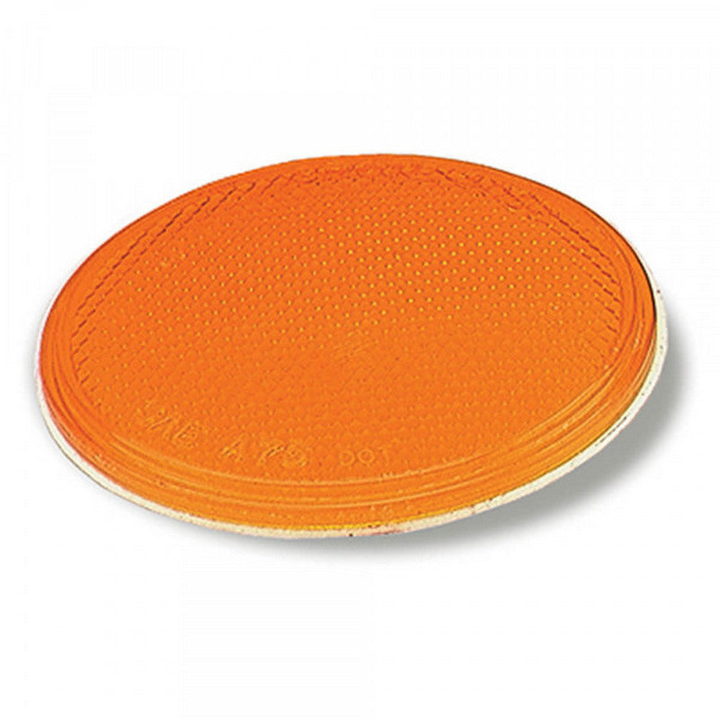 "Grote 40063 Sealed 3"" Round Stick-On Reflector Yellow"