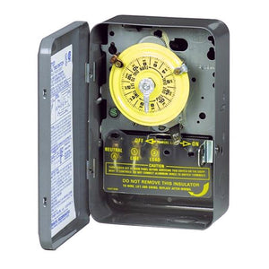 Intermatic T101 24hr Mechanical Time Switch, 120V, Indoor Metal Enclosure