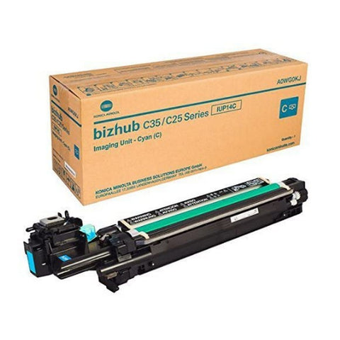 Konica Minolta IUP14C Genuine Original Cyan Imaging Unit for Bizhub C25 C35 C35P (A0WG0KG)