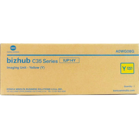 Konica Minolta IUP14Y Genuine Original Yellow Imaging Unit for Bizhub C25 C35 C35P (A0WG08G)