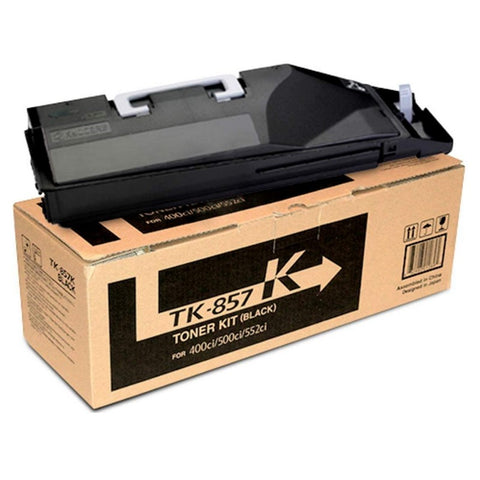 Kyocera Mita TK-857K Genuine Original Black Toner Cartridge For 400Ci / 500Ci / 552Ci (1T02H70CS0)