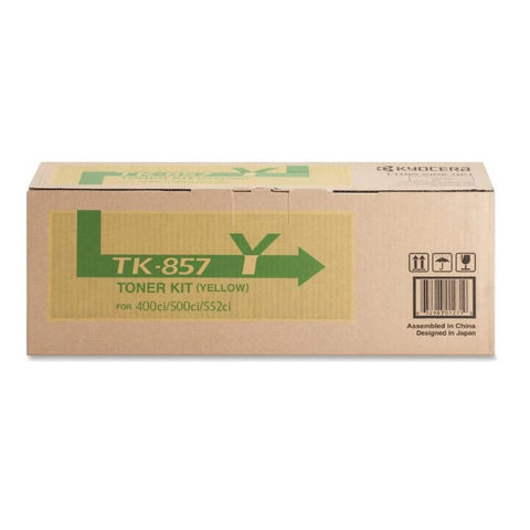 Kyocera Mita TK-857Y Genuine Original Yellow Toner Cartridge For 400Ci / 500Ci / 552Ci (1T02H7AUS0)