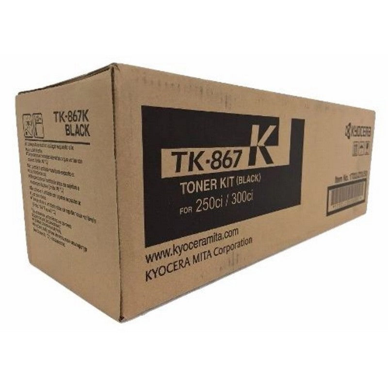 Kyocera Mita TK-867 Genuine Original Black Toner Cartridge For 250Ci / 300Ci