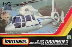 Matchbox SA 365N Aerospatiale Dauphin 2, Model Airplane Kit, 1:72 Scale, Part No. 40038