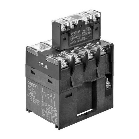 Omron G7Z-4A-02Z DC24 Power Relay with Auxillary Contact Block
