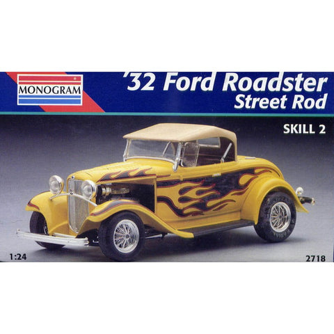 Revell-Monogram 2718 1/24 1932 Ford Roadster Street Rod Model Car Kit