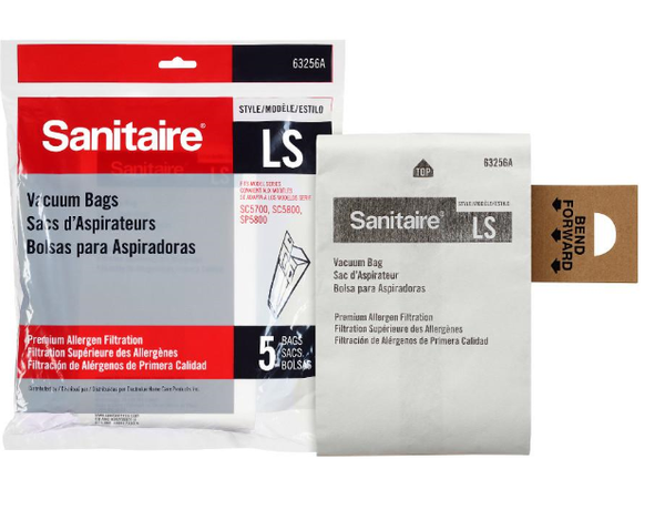 Sanitaire LS Premium Upright Vacuum Paper Bag 63256A