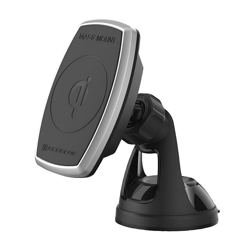 Scosche MPQ2WD-XTSP Magic Mount Pro Charge 10W Qi-Certified Wireless Fast Charge Magnetic Phone/GPS Suction & Adhesive Mount Holder (SPT11950)
