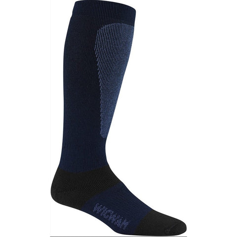 Wigwam Men's Snow Sirocco Knee-High Performance Ski Socks, Navy, Large (Size 9-12)