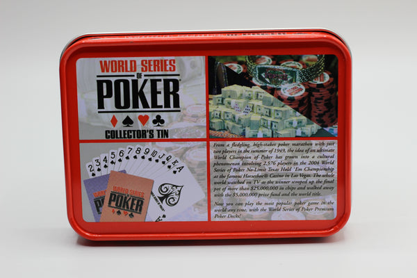 World Series of Poker Premium Playing Cards (2 Decks) in Collectible Tin, Model: WSOP-2042