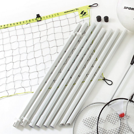 Sportcraft 4-Player Badminton and Volleyball Combo Set