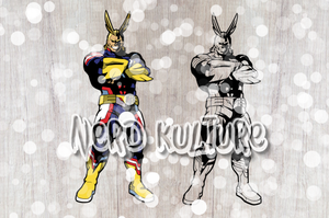 Full Color All Might SVG