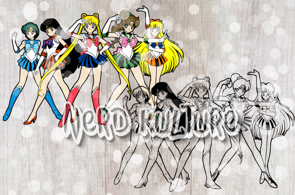 Sailor Scouts Full Color SVG