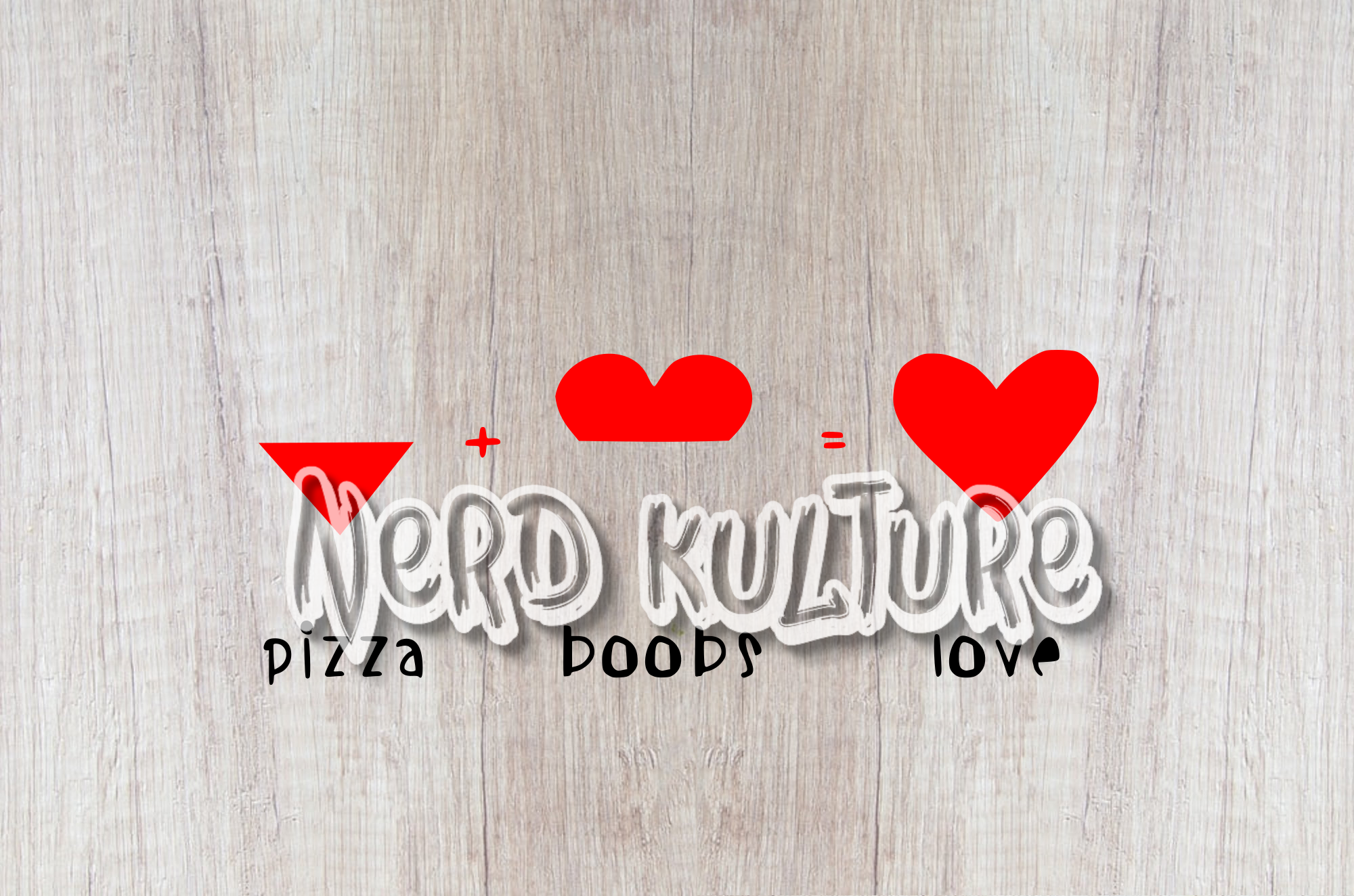 Pizza + Boobs = Love SVG