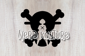 Straw Hat Skull SVG