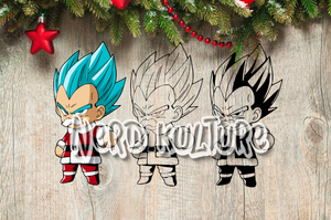 Christmas Vegeta SVG