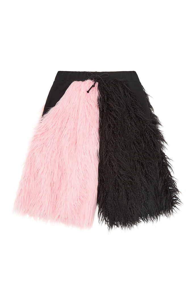 HALF & HALF FUR QUAM SHORTS **sold out**