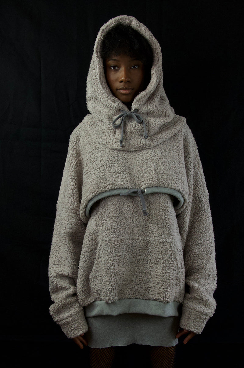 MODULAR HOODIE / GREY FLEECE / COMPLETE SET