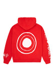 "RED ""HELLO, SHOOT ME"" HOODIE"