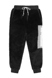 BROKEN BLACK FUR SWEATPANTS