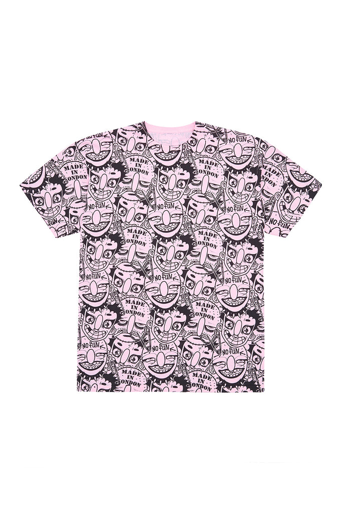 FIELD OF PONIES X GRIMJOB T-SHIRT pink