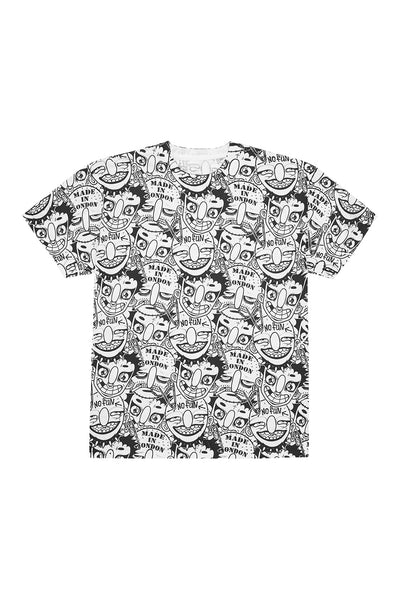 FIELD OF PONIES X GRIMJOB T-SHIRT white