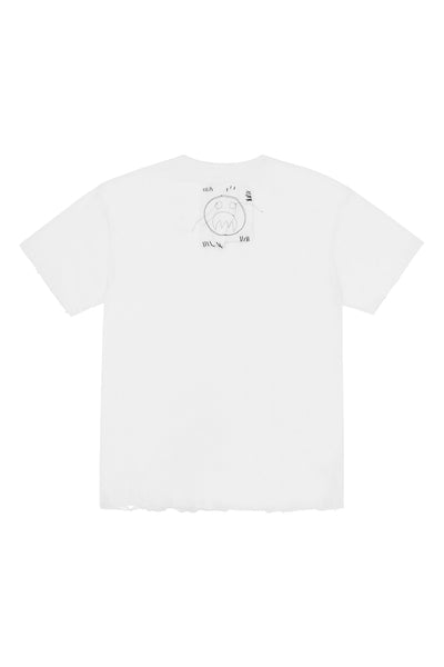 Sad face silk t-shirt