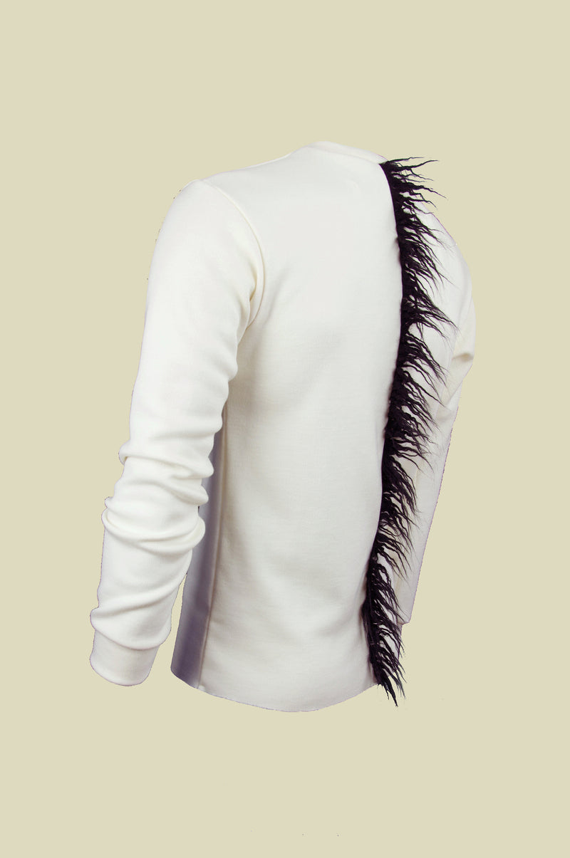 CREAM SPINE JUMPER
