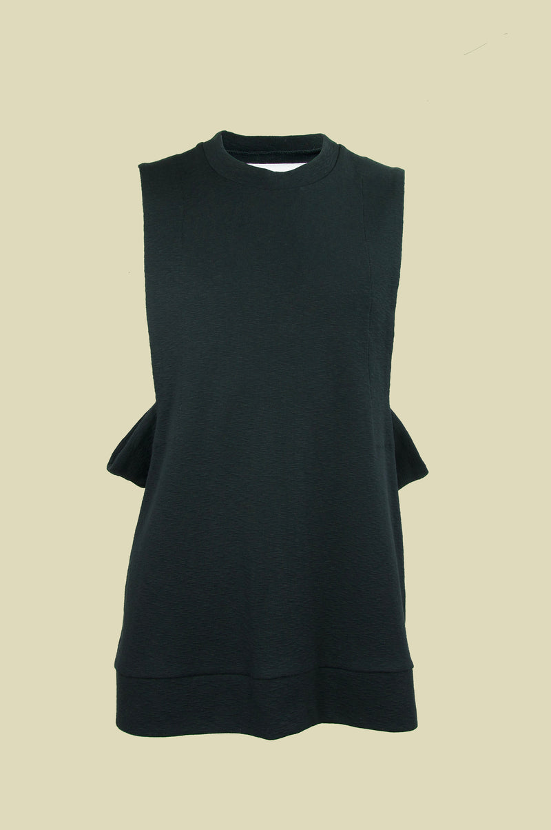 CUT OUT SLUB JERSEY TOP
