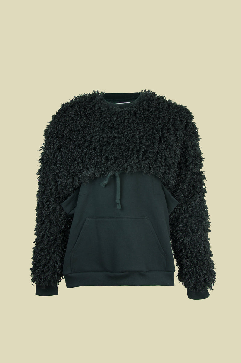 BLACK FLUFFY SLEEVES