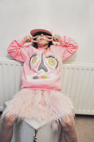 KID PINK MONSTER SWEATSHIRT