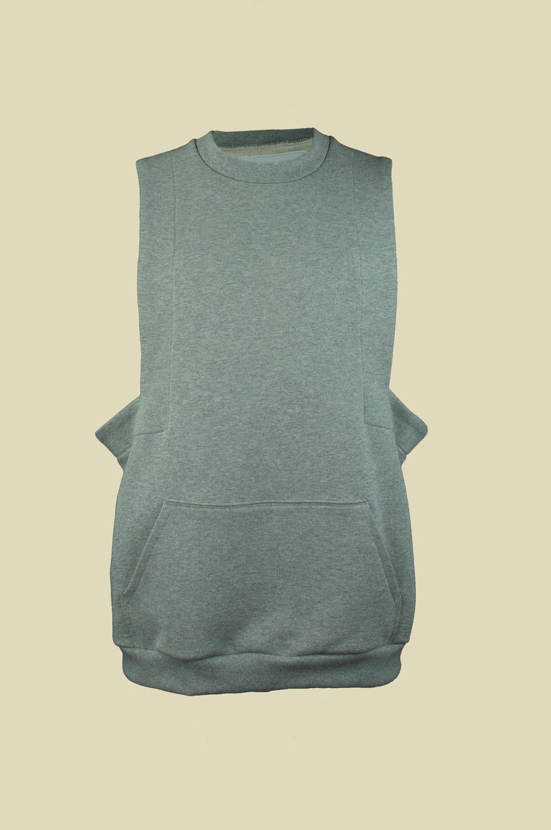 GREY CUT OUT HOODIE BASE