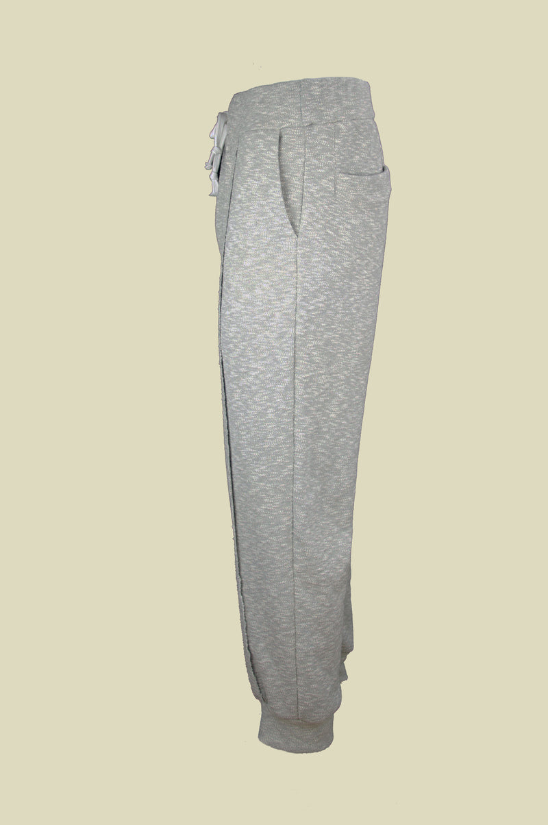 SLUB JERSEY GREY SWEATPANTS