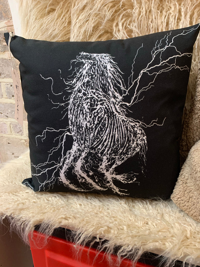 Black Horse cushion