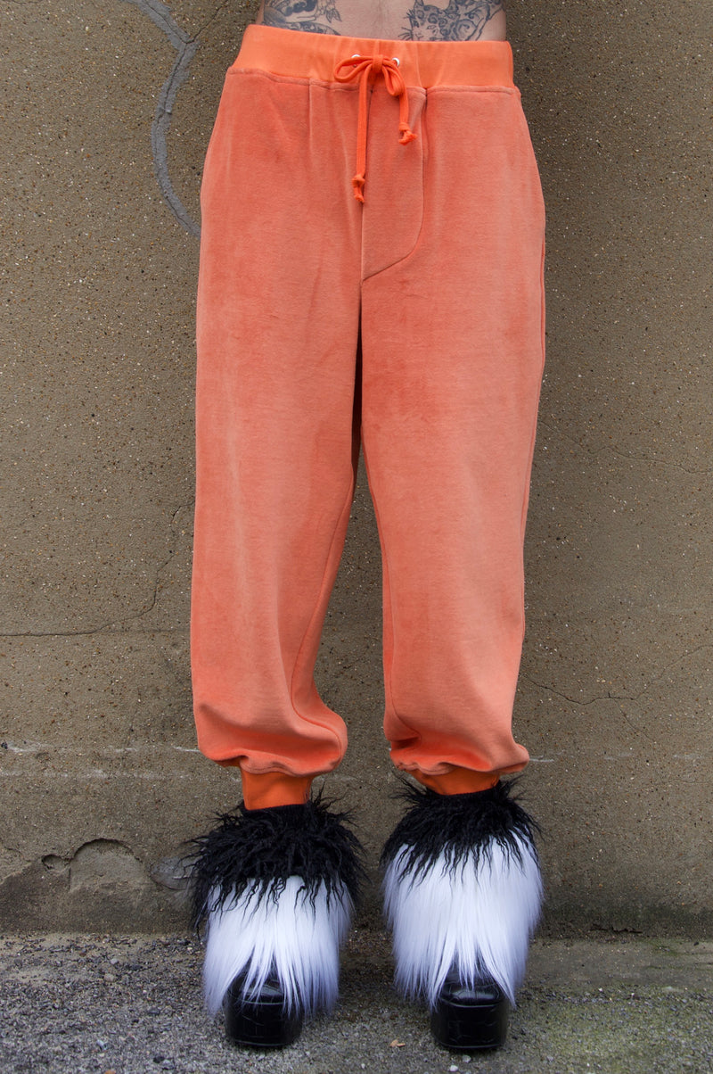 BILLY VELOUR SWEATPANTS ORANGE