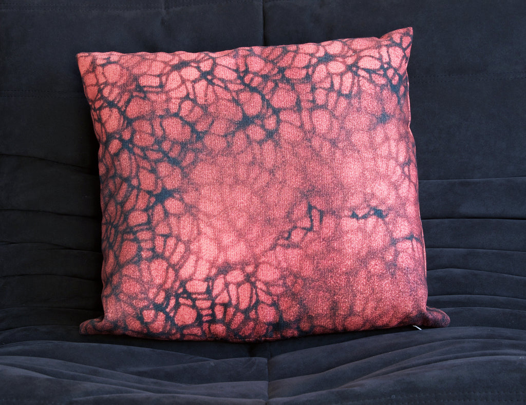 RED SPIDER MESH CUSHION