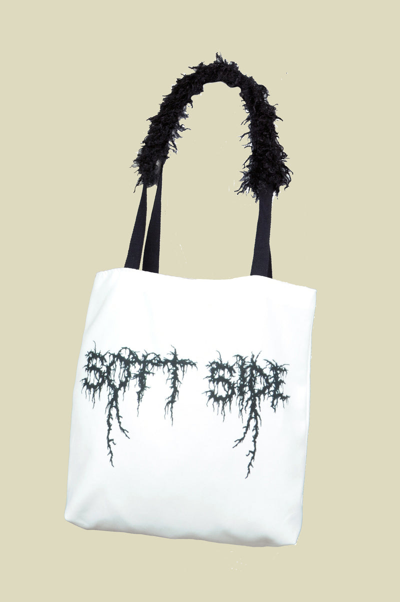 SOFT SIDE WHITE TOTE BAG