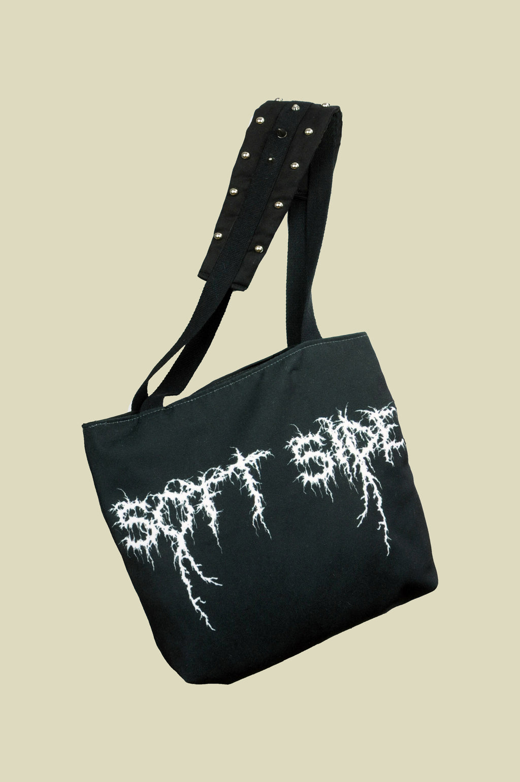 SOFT SIDE TOTE WITH STUDS